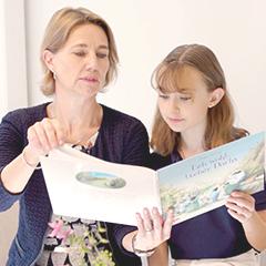 lesen kinder lesen in büchern der trauerbücherei